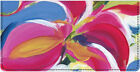 Artistic Blooms Leather Checkbook Cover