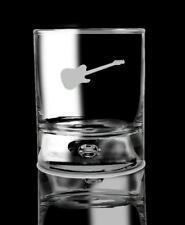 Whiskey Glass Guitar Drinking Glass Bourbon Glass Gift for him.50