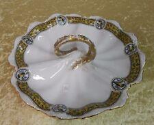 Außergewöhnliche Porzellan Serviceschale Serviceteller Mosaikmalerei