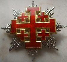 Medieval Crusade Knight Sepulcher Jerusalem Malta Medal War Cross God Holy Latin