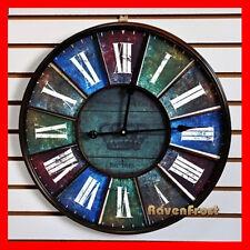 60cm Large Rustic Retro Industrial Wall Clock Roma Antique Reproduction BK121
