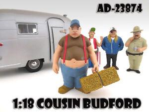 "COUSIN BUDFORD ""TRAILER PARK"" FIGURE 1:18 SCALE MODELS AMERICAN DIORAMA 23874"