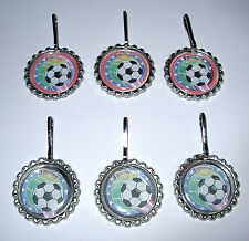 10 SOCCER TEAM  AWARD METAL TROPHY ZIP ZIPPER PULLS  BACKPACK CHARMS PARTY FAVOR