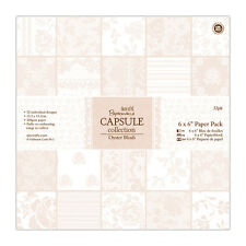 "Papermania 6x6 ""Papel Scrapbooking Capsule Collection 32 Hojas Ostra Blush"