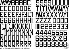 Raf Numeri e Lettere 76.2cm WW11 Nero 1/48 FP888BLK