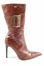 BUFFALO LONDON High Heel Stiefel braun extravaganter Stil Damen Gr. DE 39
