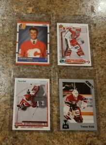 (4) Trevor Kidd 1990-91 Upper Deck Score 7th Sketch Rookie card lot RC 1991-92