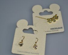 Disney Paris Mickey Mouse Swarovski Necklace and Earrings