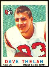 1959 TOPPS CFL FOOTBALL #58 DAVE THELAN NM RC OTTAWA ROUGH RIDERS MIAMI OF OHIO