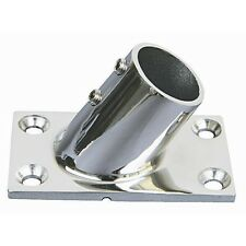 Stainless Steel Boat Handrail Fittings 60 Degree Rectangular Base 1""