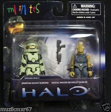 HALO Minimates TRU Spartan Scout (Green) & Jackal Major