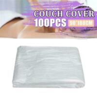 100* Disposable Sofa Bed Couch Pad Covers Plastic Massage Table Salon Sheet Y7A9