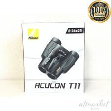 Nikon Binoculars Akyuron T11 8-24x25 Porro Prism Type Black Act11bk