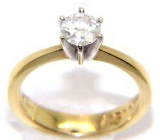 Women's / Ladies 14carat 14ct Yellow Gold .56ct Diamond Solitaire Ring Size K