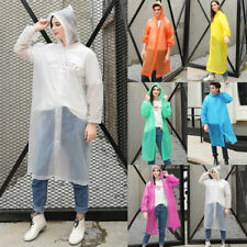 Reusable Plastic Adult Waterproof Poncho Camping Festival Walking Rain Coat Cape