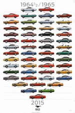 Ford Mustang Through The Years Large promo poster 50 Years Anniversary