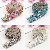 1Yard Bling Crystal Rhinestone Ribbon Wedding Dress DIY Craft Sewing Decor Trims