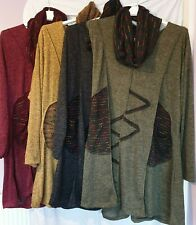 NEW LADIES ITALIAN LAGENLOOK TUNIC DRESS TOP ONE SIZE TO FIT ALL - COLD WEATHERS