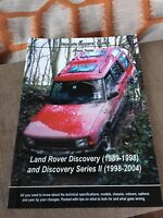 Land Rover Discovery Book 1989-2004 ULTIMATE BUYERS GUIDE James Taylor RARE. NEW