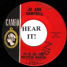 Jo Ann Campbell TEEN C & W ANSWER 45 (Cameo 223) I'm the Girl From Wolvertion