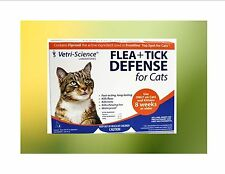 Generic Frontine Vetri-Science Flea+Tick Defense for Cats 8 Weeks or Older 3 pk