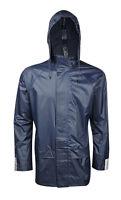 Mens Ladies Adults Pv Waterproof Rain Shower Proof Jacket Overcoat Size S to 5XL