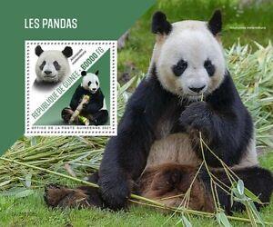 Guinea Wild Animals Stamps 2021 MNH Pandas Giant Panda Fauna 1v S/S