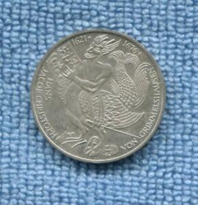 1976 Germany 5 Deutsche Mark Silver  Von Grimmelshausen  S-71