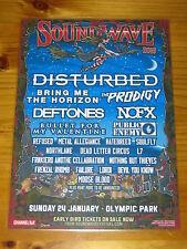 SOUNDWAVE - 2016 Australia Tour-  DISTURBED - NOFX - DEFTONES - Laminated Poster