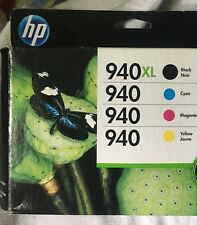 HP 940XL 940 XL Set of 3 Yellow Black Cyan Ink  Cartridges NEW Genuine