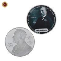 WR Emil Von Behring 1er Premio Nobel de Medicina Fisiología Moneda de Plata