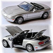 mazda mx 5 Type NA MIATA 1989-1998 Silver Metallic 1:24