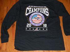 NEW NFL 2018 AFC North Division Champions Baltimore Ravens DBL.Sided Shirt-  XL. b456eac7b