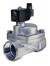 """2"""" Inch High Pressure Stainless Steel Electric Steam Solenoid Valve Nc 220V Ac"""