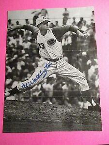 Al Worthington 1950s Cincinnati Reds Giants Twins Autograph Signed Comic print
