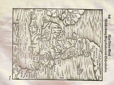 Map Of England With Part Of Scotland And Ireland 1592 Photo Print A4