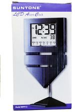 SUNTONE DESKTOP/SHELVE LCD DIGITAL ALARM CLOCK, DATE DAY YEAR