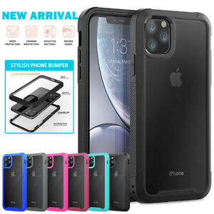 Hybrid Shockproof Hard Case Tempered Glass Cover For iPhone 11 12 Pro Max XR 7 8