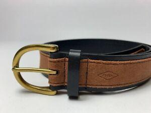 Fossil belt vintage Brown Leather Belt Size Large
