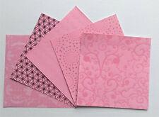 6x6 Scrapbook Card Making Paper Lot 10 Sheets Pink Glitter Velvet Foil Lacquered