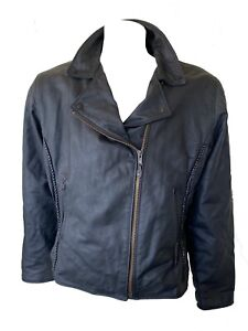 USA Bikers Dream Apparel Mens Brando Insulated Leather  Motorcycle Jacket Sz.3XL