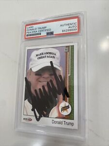 """PRESIDENT DONALD TRUMP SIGNED """"ROOKIE"""" CARD, PSA/DNA CERTIFIED, SLABBED, RARE !!"""