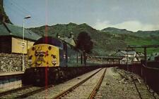 Class 40 Diesel Locomotive 40028 Blaenau Ffestiniog railtour1980s postcard
