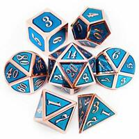 Haxtec Metal Dice Set D&D Polyhedral DND Dice for Dungeons and Dragons RPG Table