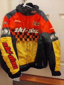 Mens Large Skidoo X Team Snowmobile Jacket Coat Snowmobiling ski doo rev mxz