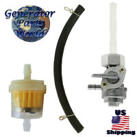 Female Nut Petcock Fuel Filter & Line for Honda XL185S XR185 XR200 16950-KCP-J01