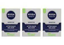 (59,30 €/L) 3x 100ml Nivea Men Sensitive After Shave Balm 0% alcohol