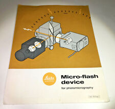 Product Detail Sheet for the Leitz / Leica Micro Flash Device, from 1966