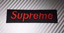 Embroidered Patch Iron Sew Logo SUPREME vans thrasher skateboard independent