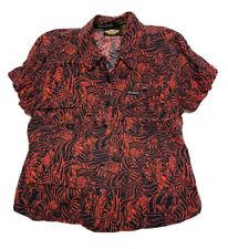 VTG HARLEY DAVIDSON Rayon Hawaiian Shirt Aloha Womens Size M *See Description
